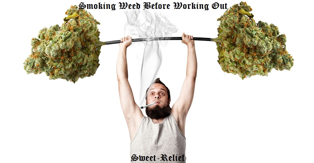 smoking weed before working out